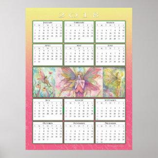 Cute Fairy 2018 Calendar Poster