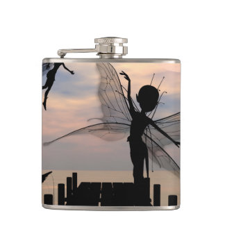 Cute fairy dancing on a jetty flasks
