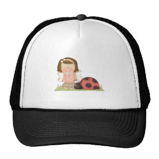 Cute Fairy Girl and Ladybug Trucker Hat