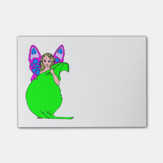 Cute Fairy In Green Post-it Notes