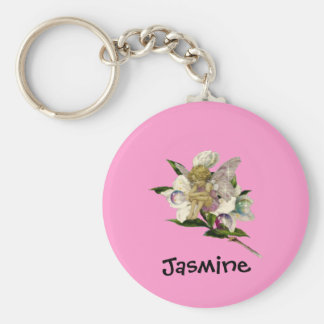 Cute Fairy - Personalized Name Gift Basic Round Button Keychain