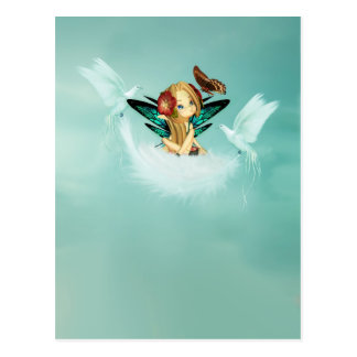 Cute Fairy Postcard - Great For Card Collectors