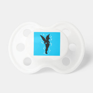 Cute Fairy Silhouette Blue Design Pacifier