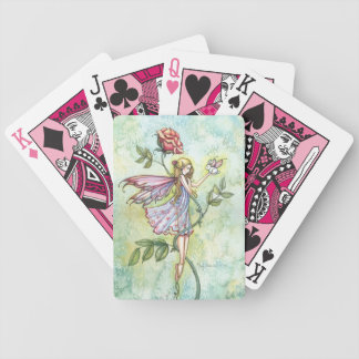 Cute Fairy with Bunny and Rose Bicycle Playing Cards