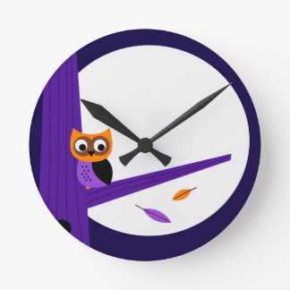 Cute fairytale Owl : Zazzle products are in shop Round Clock