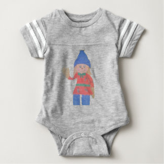 Cute Fall Scarecrow Baby Bodysuit
