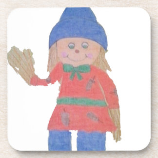 Cute Fall Scarecrow Coaster