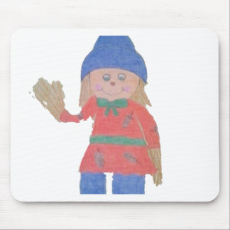 Cute Fall Scarecrow Mouse Pad
