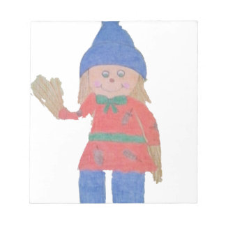 Cute Fall Scarecrow Notepad