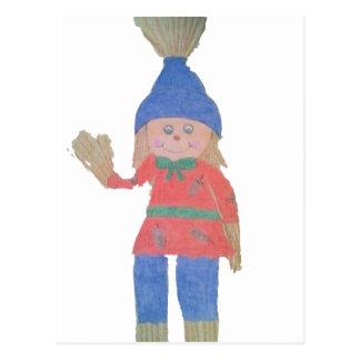 Cute Fall Scarecrow Postcard