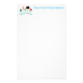 Cute Family Of Snowmen Stationery