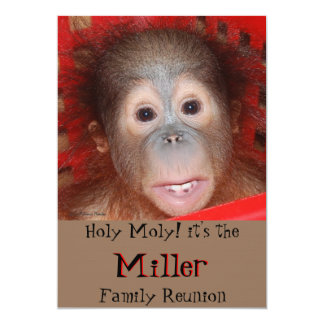 Cute Family Reunion 5x7 Paper Invitation Card