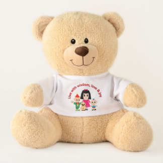Cute family teddy bear