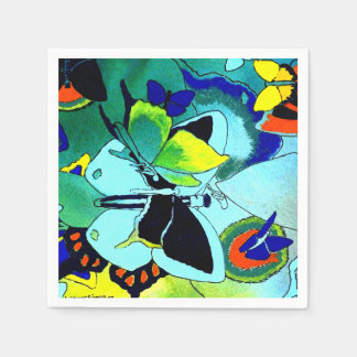 Cute Fancy Butterfly Collage Multi-Color Designed Paper Napkins