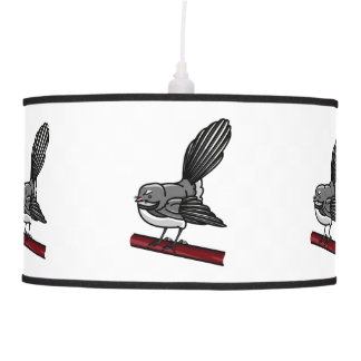 Cute Fantail New Zealand And  Australasian Bird Hanging Pendant Lamps