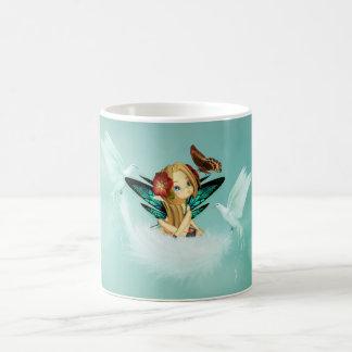 Cute Fantasy Fiary With Doves Mug - Matches Cards