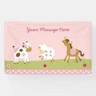 Cute Farm Animal Baby Shower Banner