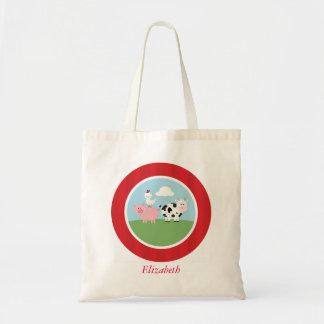 Cute Farm Animals Kids Tote Bag