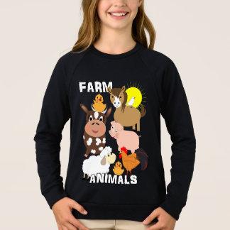 Cute Farm Animals Kids Whimsy Graphic Sweatshirt