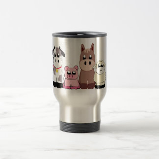 Cute  farm animals travel mug