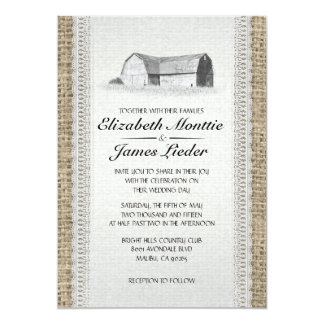 Cute Farm Wedding Invitations