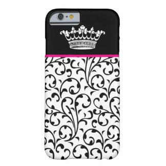 Cute Fashion Crown & Swirls iPhone 6 case B Pink Barely There iPhone 6 Case