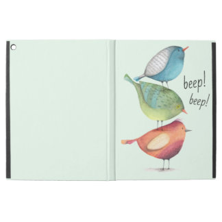 "Cute Fat Birds Standing on Each Other iPad Pro 12.9"" Case"