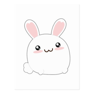Cute Fat Bunny - Rabbit Adorable Fluffy Postcard