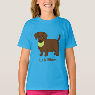 Cute Fat Chocolate Labrador Retriever Lab Mom T-Shirt
