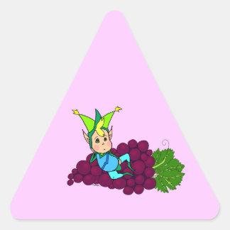 Cute Fat goblin Triangle Sticker