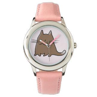 Cute Fat Kitty Cat Wrist Watches