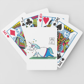Cute fat unicorn - mopsiges Einhorn Bicycle Playing Cards
