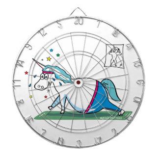 Cute fat unicorn - mopsiges Einhorn Dartboard