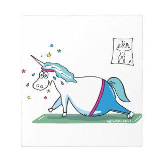 Cute fat unicorn - mopsiges Einhorn Notepad