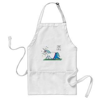 Cute fat unicorn - mopsiges Einhorn Standard Apron