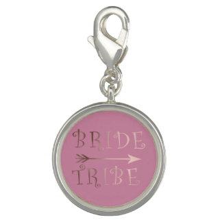 cute faux rose gold foil bride tribe design charms