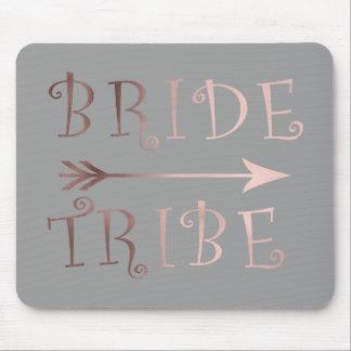 cute faux rose gold foil bride tribe design mouse pad