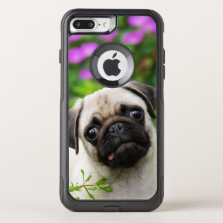 Cute Fawn Colored Pug Puppy Dog Pet Photo - on OtterBox Commuter iPhone 8 Plus/7 Plus Case