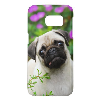 Cute Fawn Colored Pug Puppy Dog Portrait Phonecase Samsung Galaxy S7 Case