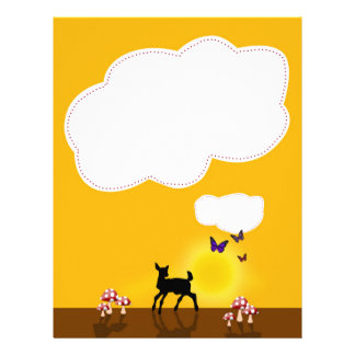 Cute Fawn Illustration - Letterhead Stationery