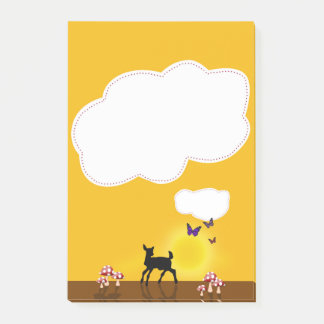 Cute Fawn Illustration - Post-it® Notes