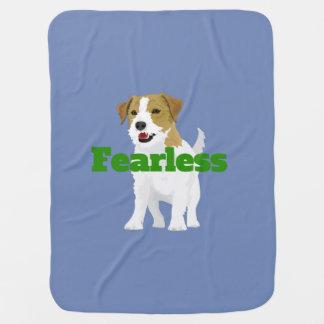 """Cute """"Fearless Jack Russell"""" tee Baby Blanket"""