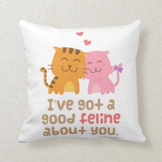 Cute Feline Cats In Love Pun Humor Pillows