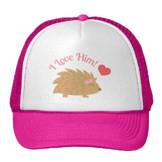 Cute Female Hedgehog in Love, I love him Trucker Hat