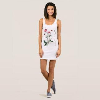 Cute feminine flower power tank dress