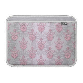 Cute Feminine Girly Pink Damask Sleeve For MacBook Air
