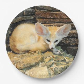 Cute fennec fox paper plate
