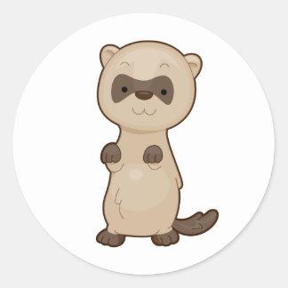 Cute Ferret Classic Round Sticker