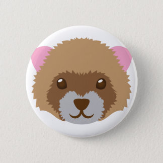 cute ferret face 2 inch round button