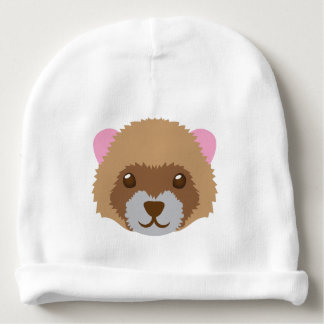 cute ferret face baby beanie